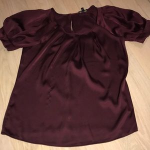 Express xs maroon blouse like new